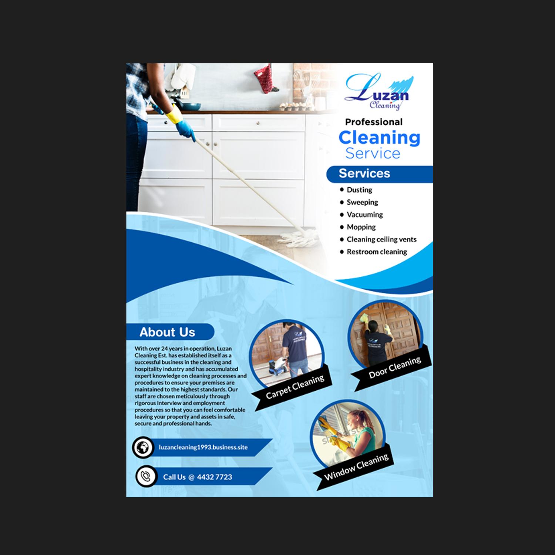 Elegant, Playful, Cleaning Service Flyer Design for a