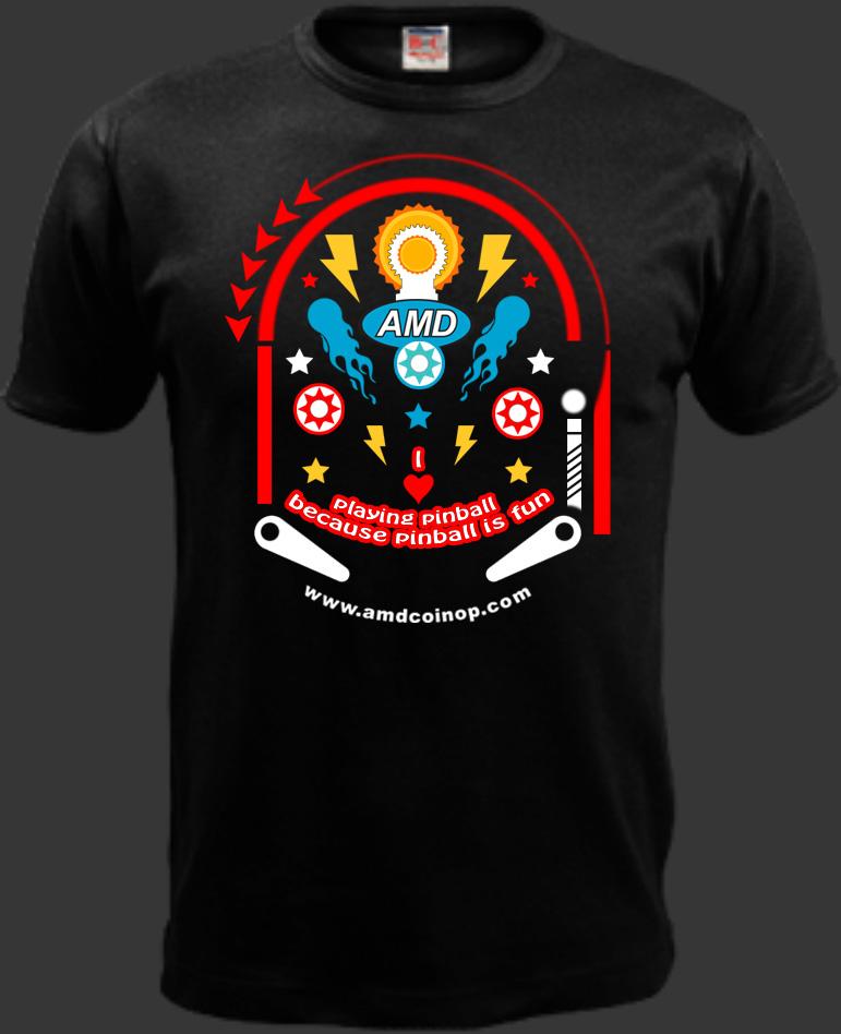 Playful, Colorful, Amusement Park T-shirt Design for