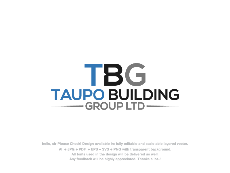 Upmarket, Modern, Construction Company Logo Design for Taupo