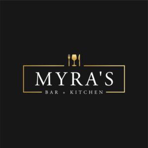 Myra's Bar & Kitchen | Logo Design by Elise Young