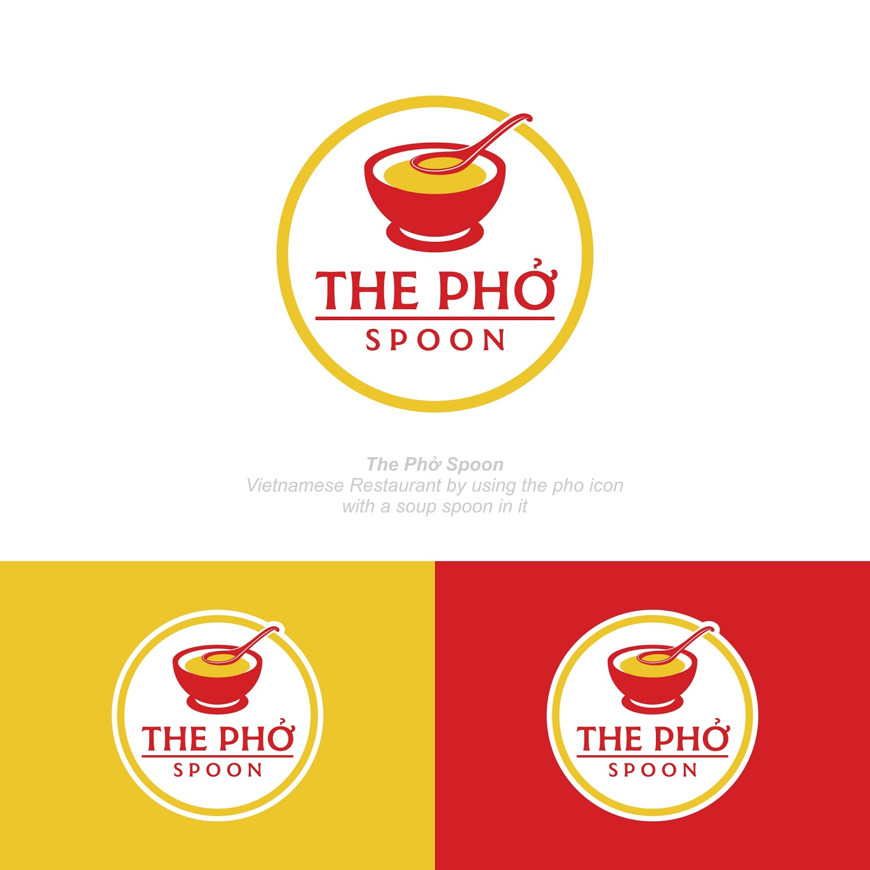 Elegant Playful Vietnamese Restaurant Logo Design For The Phở Spoon By Zatsukiki Design 20736683