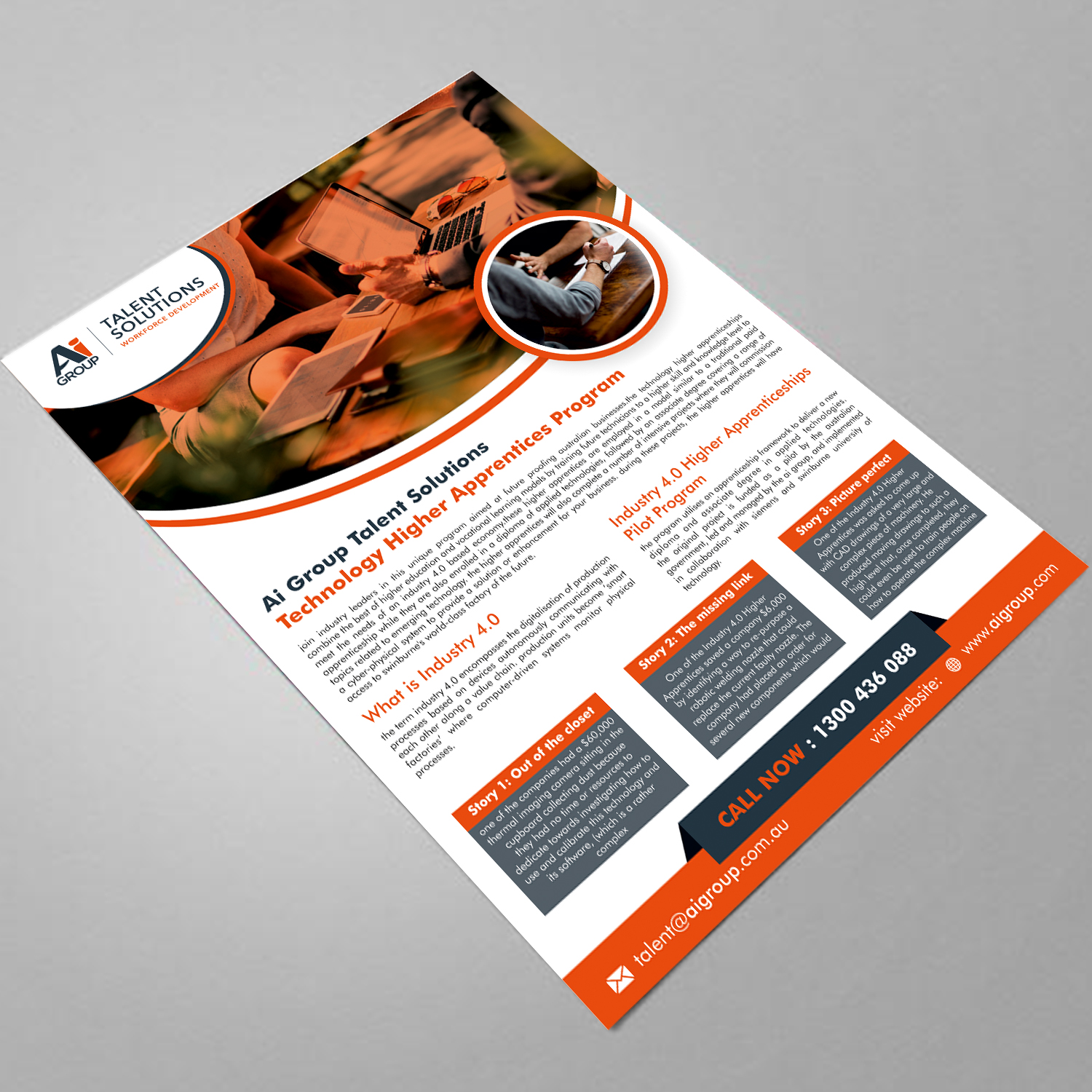 Bold, Modern, Engineering Flyer Design for a Company by ecorokerz