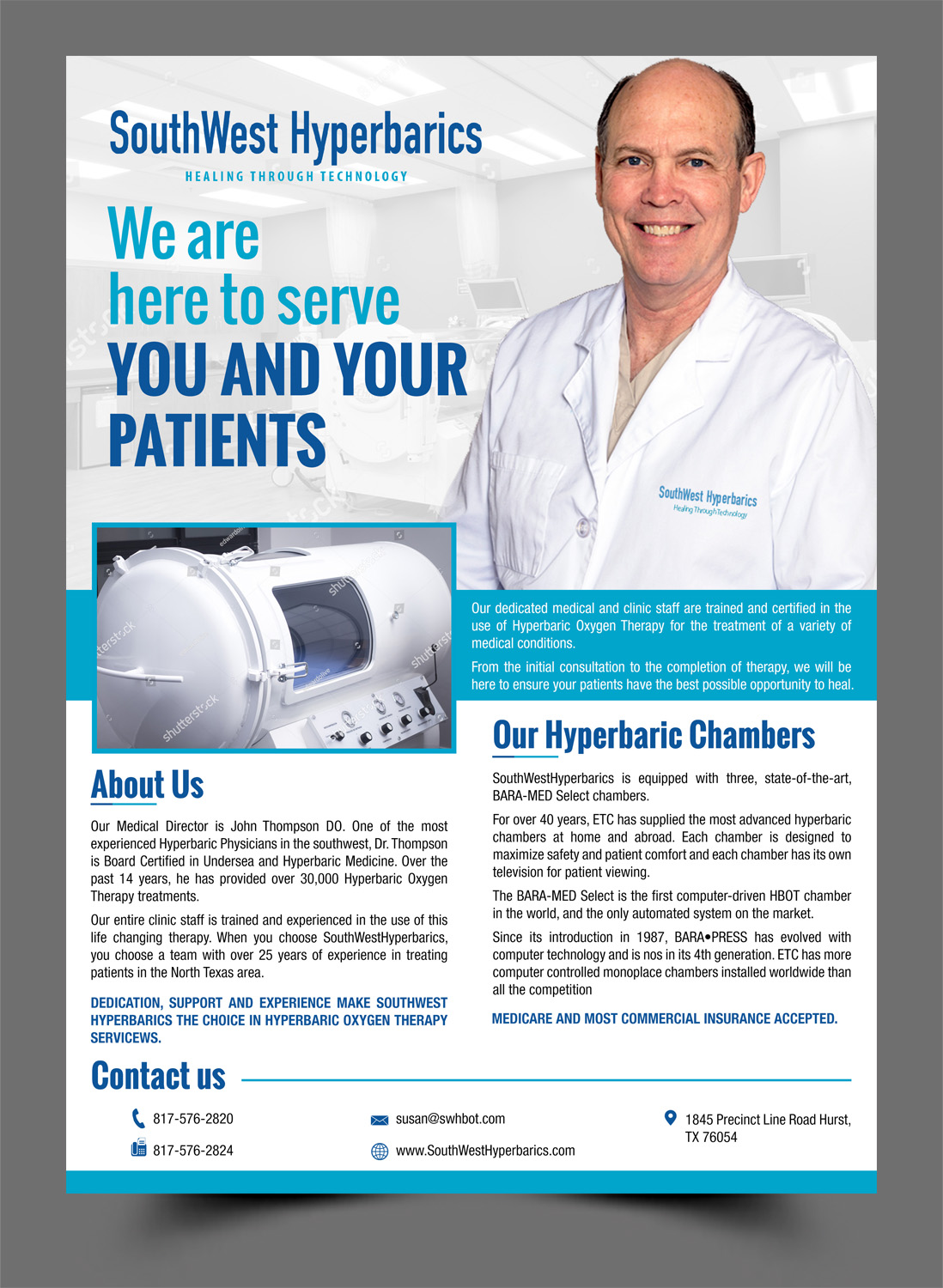 Serious, Modern, Medical Flyer Design for a Company by Schöpfer
