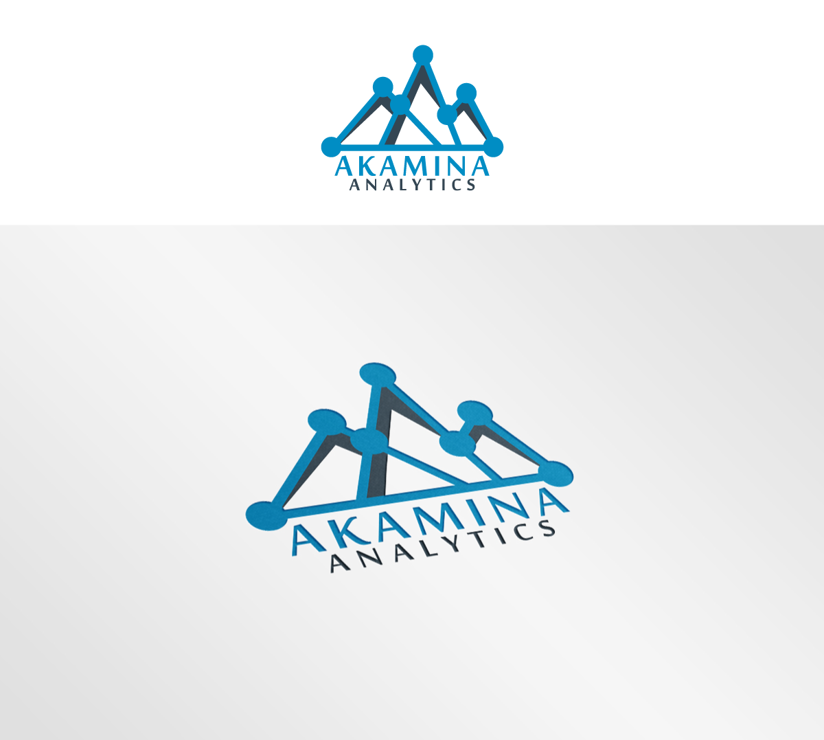 Serious, Modern, Data Science Logo Design for Akamina