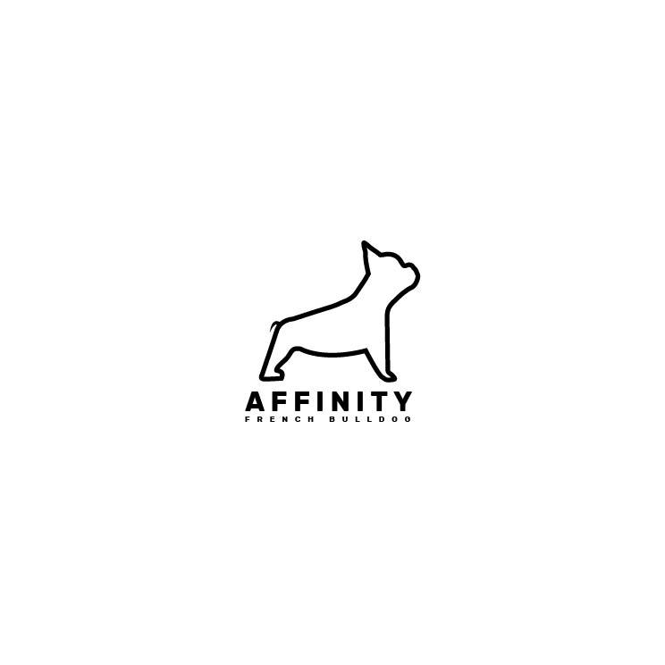 Serious Modern Logo Design For Affinity French Bulldogs By