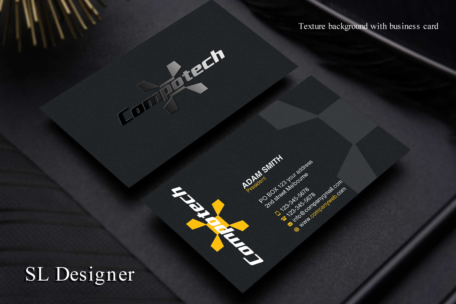 Serious Professional Defense Business Card Design For