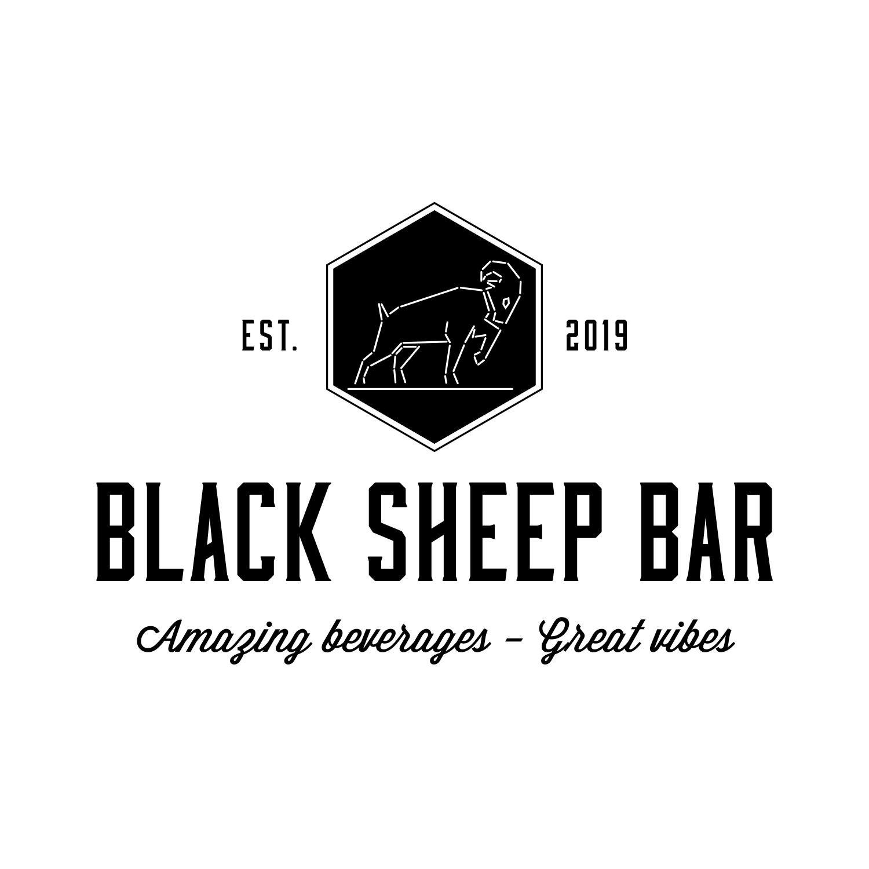Bold, Playful Logo Design for Black Sheep Bar by