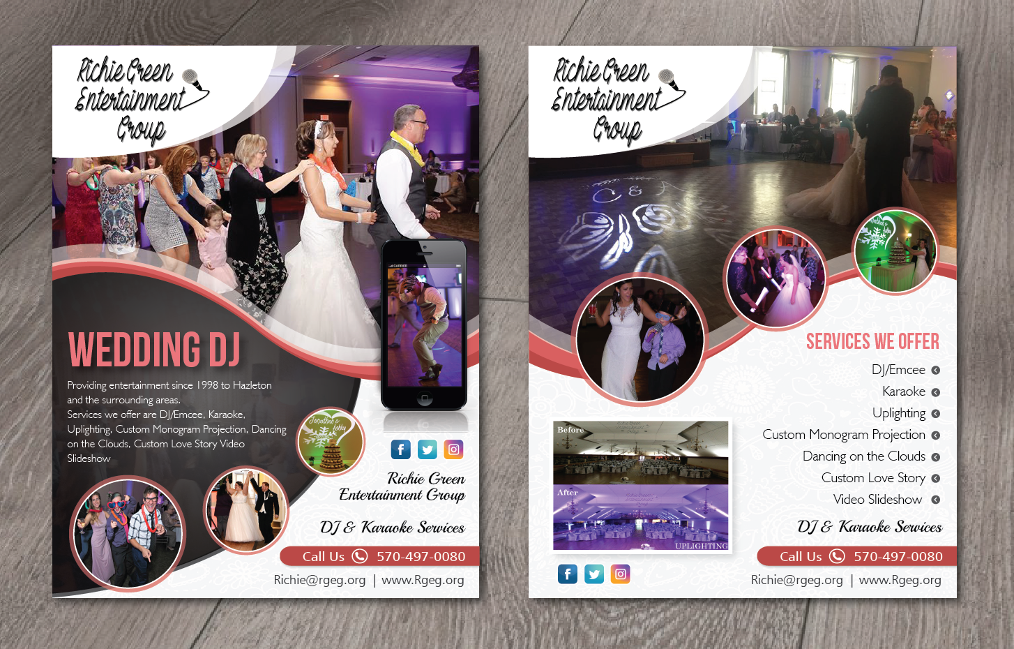 Elegant, Feminine, Entertainment Industry Flyer Design for a Company