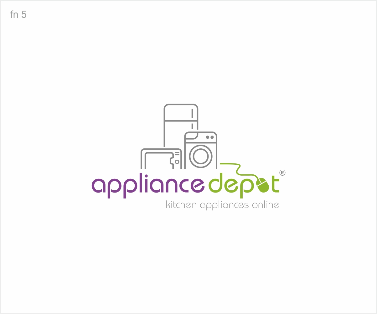 Modern, Colorful, Online Shopping Logo Design for Appliance Depot by