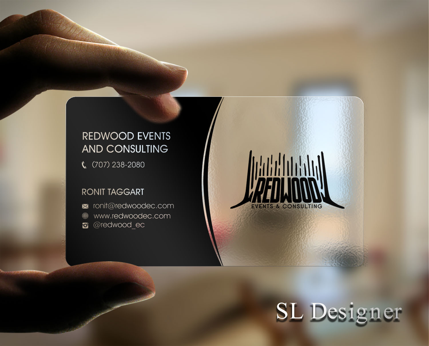 Event Planning Business Card Design