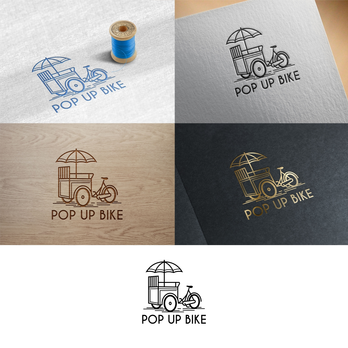 Logo Design for a Pop up Bike Rental for Events by DesignLima