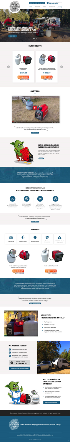 BigCommerce Design by pb for Hutch Mountain | Design: #20942536