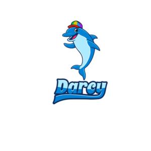 Fun and Cute Dolphin Mascot for children   Mascot Design by will i am