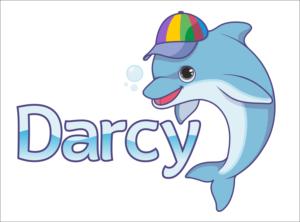 Fun and Cute Dolphin Mascot for children   Mascot Design by Scelatio