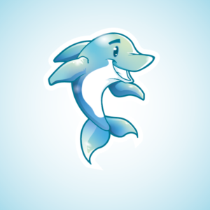 Fun and Cute Dolphin Mascot for children   Mascot Design by Gabriel T. Marques