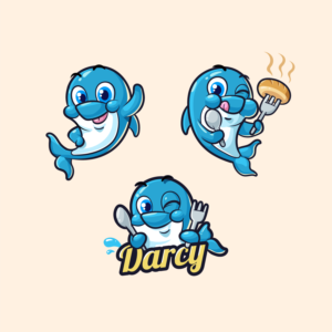 Fun and Cute Dolphin Mascot for children   Mascot Design by B'signs