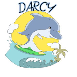 Fun and Cute Dolphin Mascot for children   Mascot Design by Tomi Ax