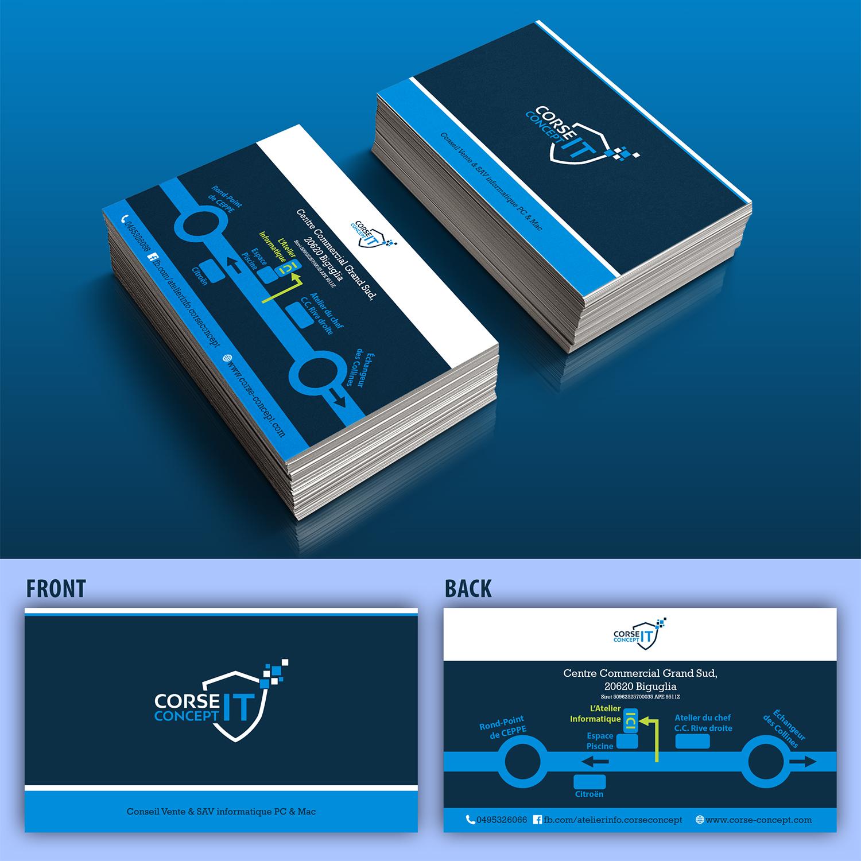 Professionell Gehobenes Visitenkarten Design Für Corse