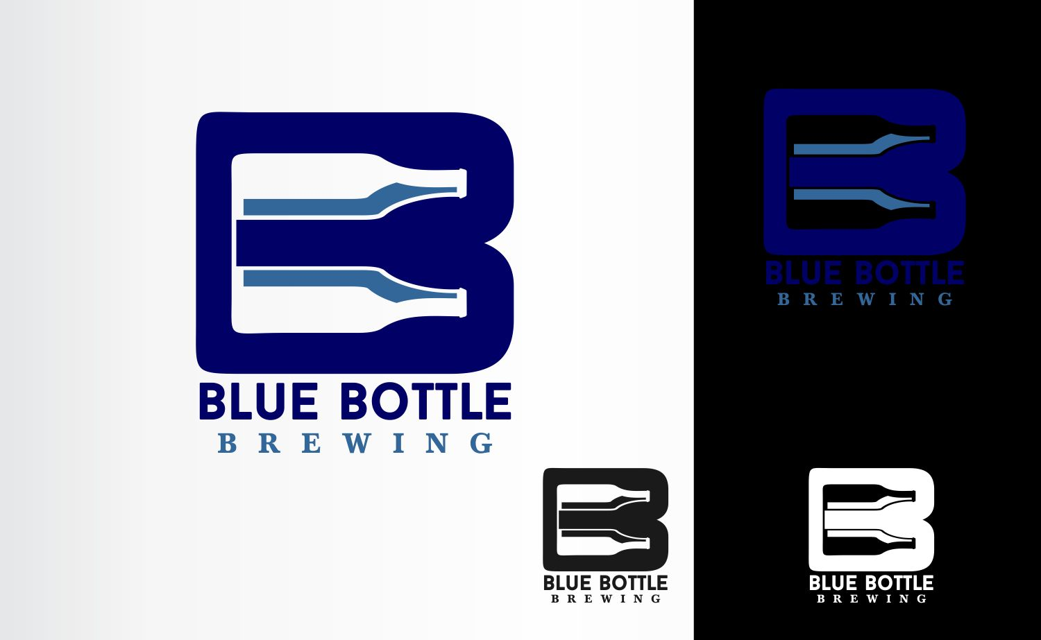 Playful, Bold, Craft Brewery Logo Design for BLUE BOTTLE BREWING by