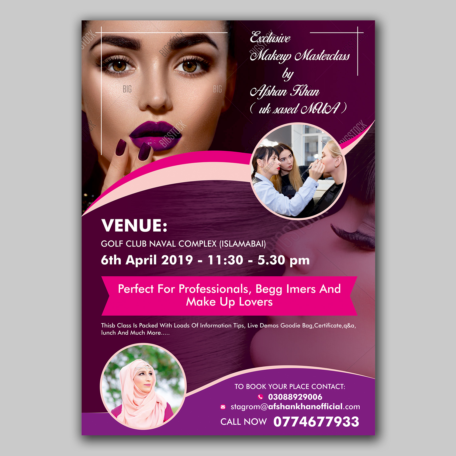 Elegant, Playful, Hair And Beauty Flyer Design for a Company by