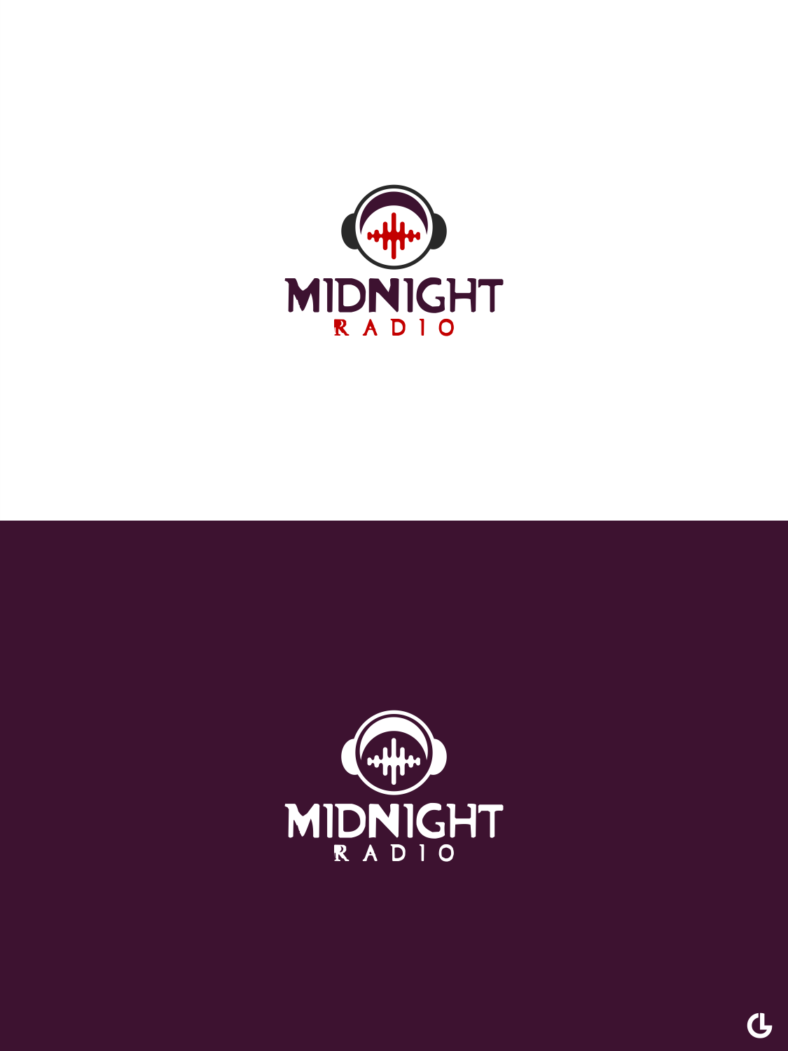 Personable, Colorful, Music Download Logo Design for Midnight Radio