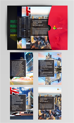 Brochure Design by lookedaeng - Azpur service sheets and folder