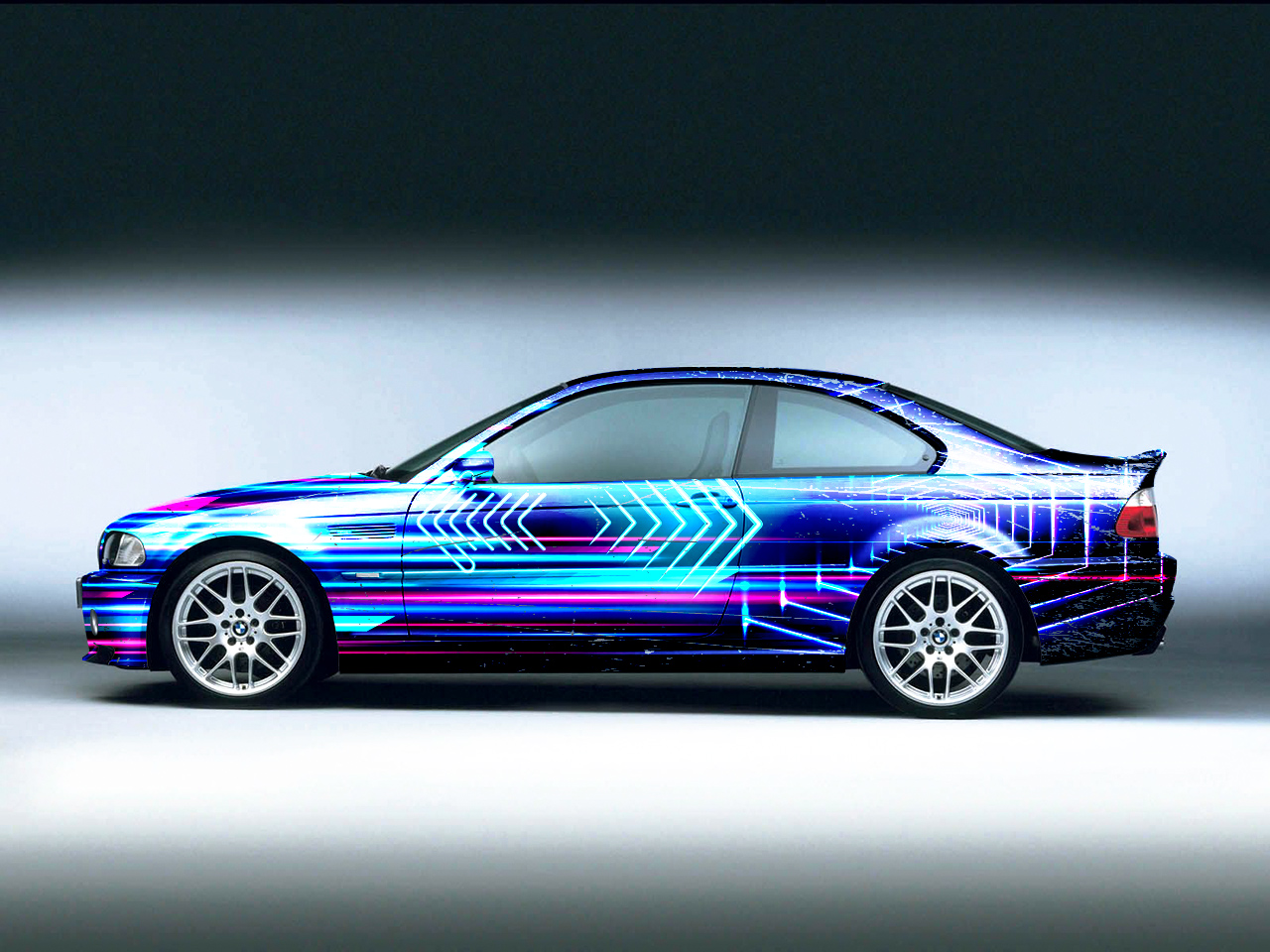 Synthwave Bmw M3 E46 Race Car Wrap 5 Car Wrap Designs For A Business In United Kingdom