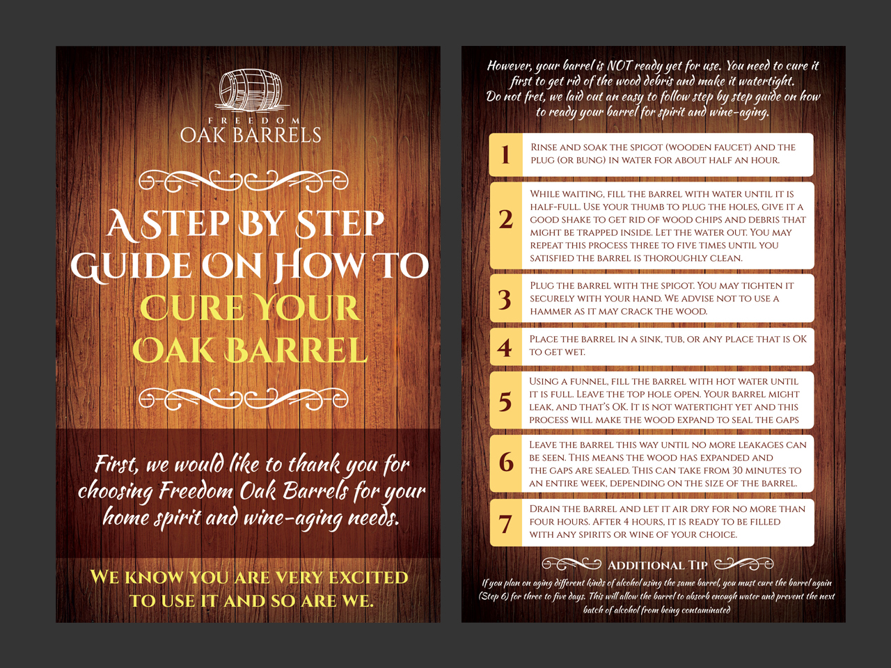 Traditional, Masculine Infographic Design for Freedom Oak
