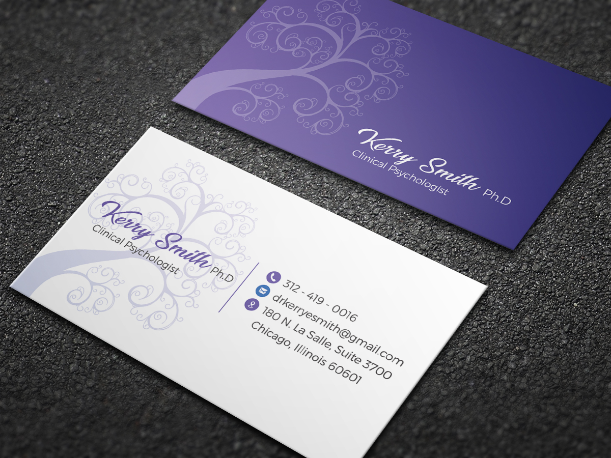 Modern Upmarket Psychology Business Card Design For A Company By Moumita Design 21275077