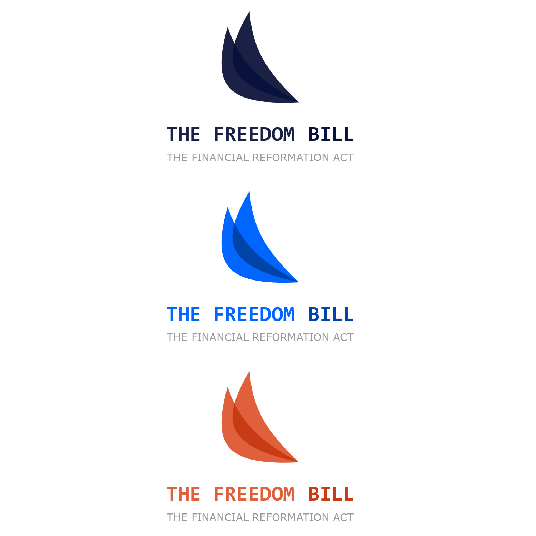 Elegant Playful Logo Design For The Freedom Bill By