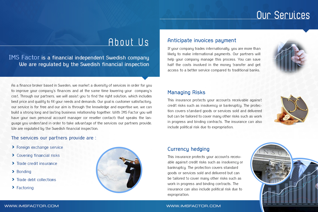 Serious, Professional, Financial Brochure Design for a