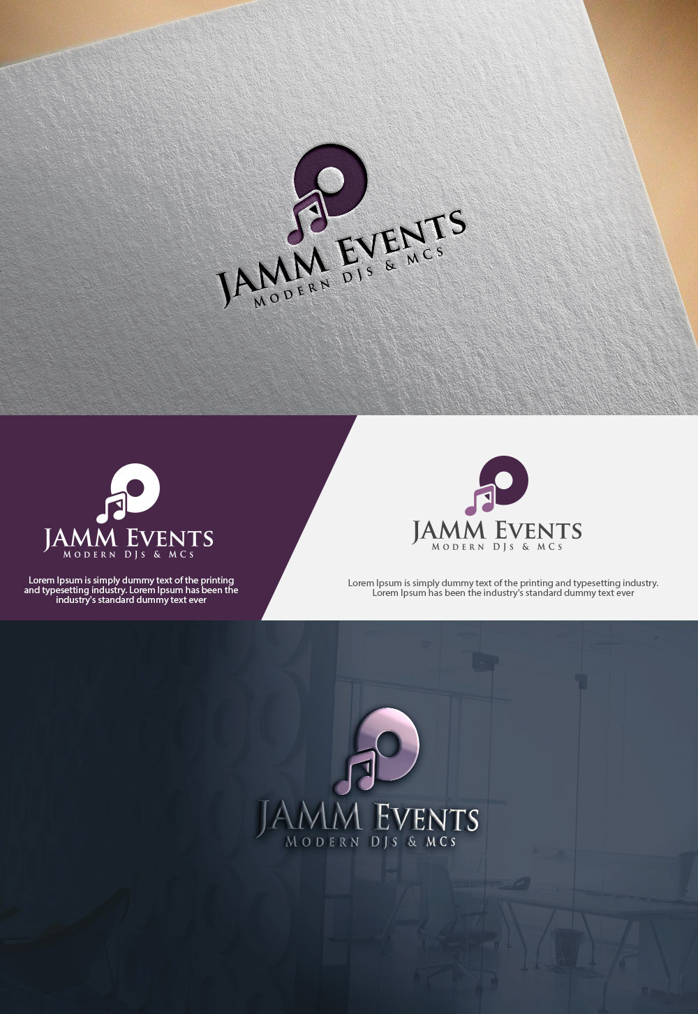 Logo design for a Modern Wedding DJ company by abdulhadi22