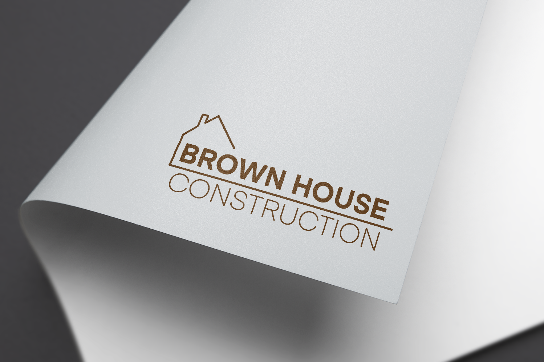 Elegant, Playful, Building Logo Design for Brown House Construction