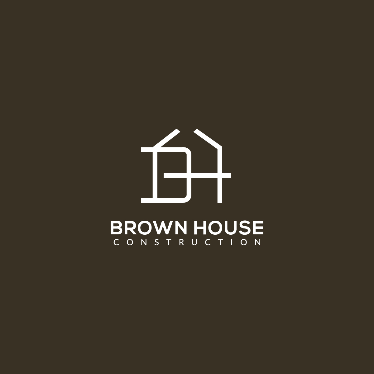 Brown House Construction logo by **INCREDIBLEDESIGNERS** for a new home construction and renovation company