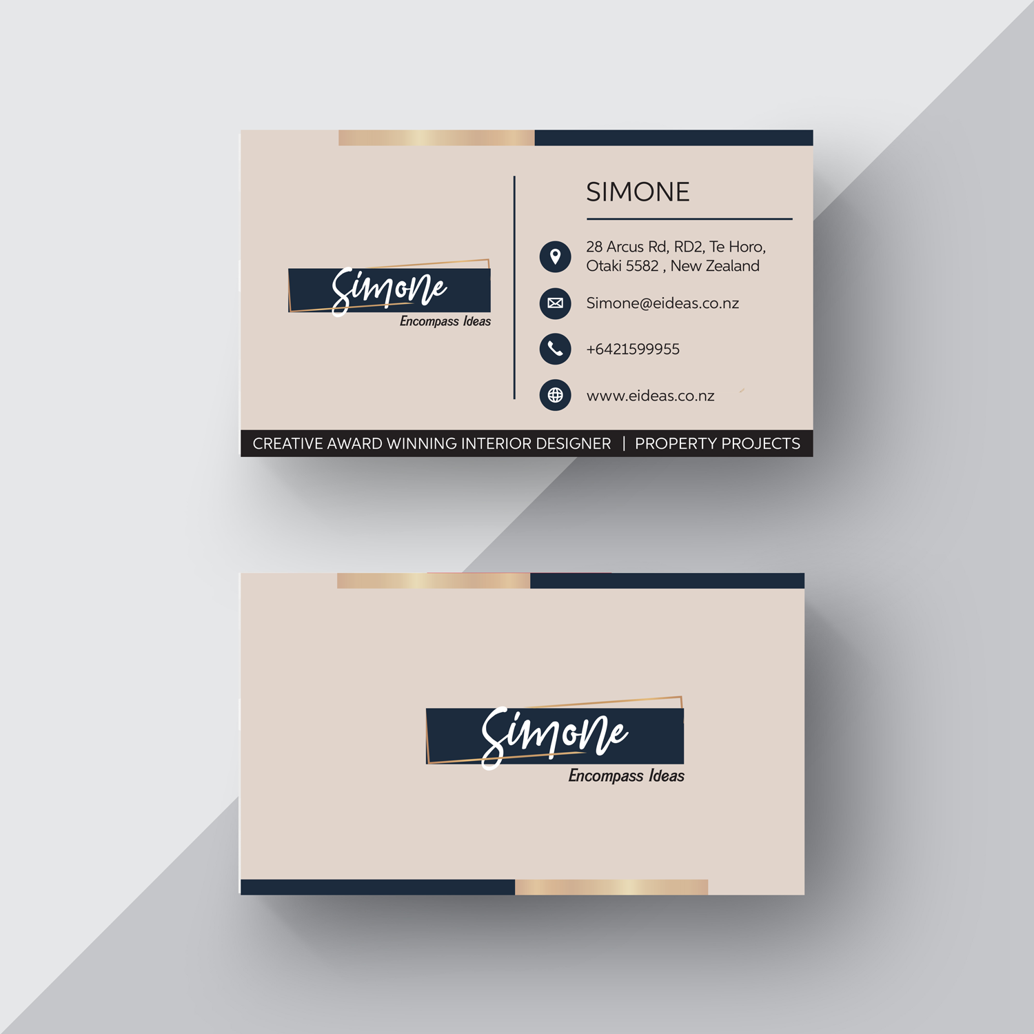 Modern Upmarket Architecture Business Card Design For Encompass Ideas By 4ad Design 21351529
