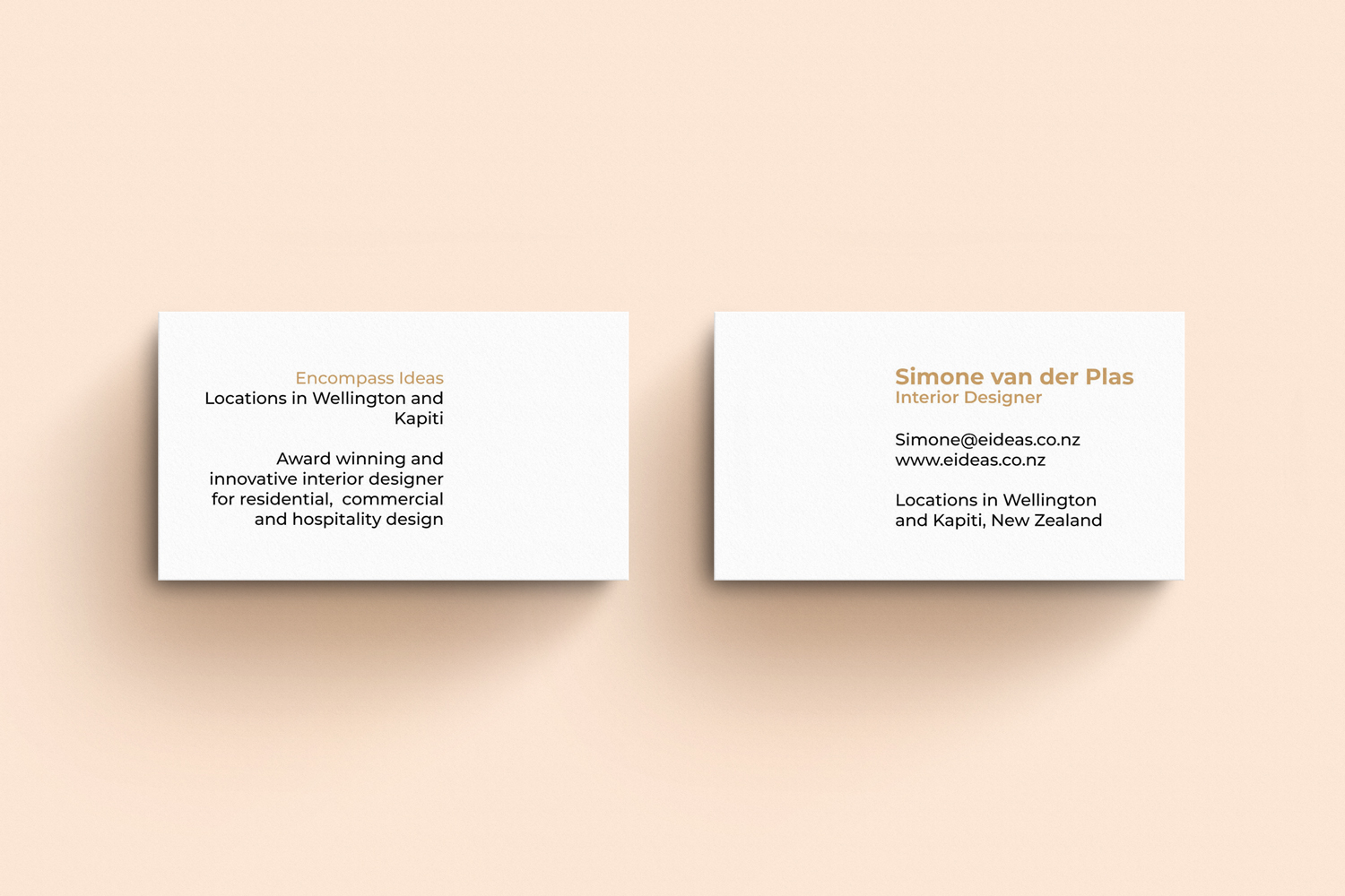 Modern Upmarket Architecture Business Card Design For Encompass Ideas By Yooo Design 21354867