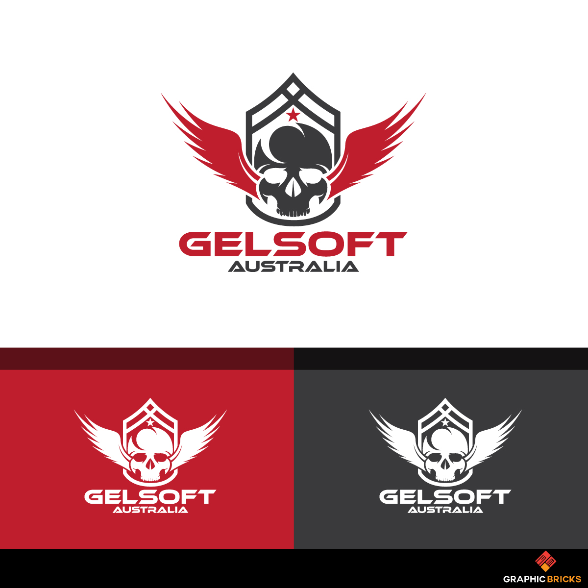 Masculine, Upmarket, Games Logo Design for Gelsoft Australia