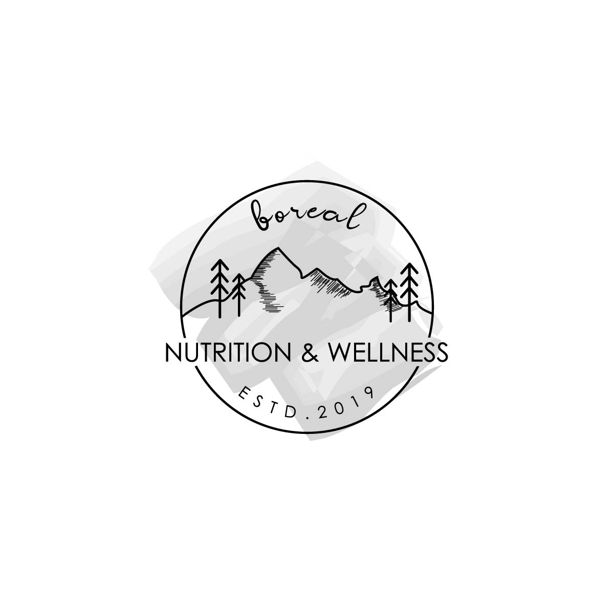 Hand Drawn Mountain logo for a Nutrition and Wellness company by hih7