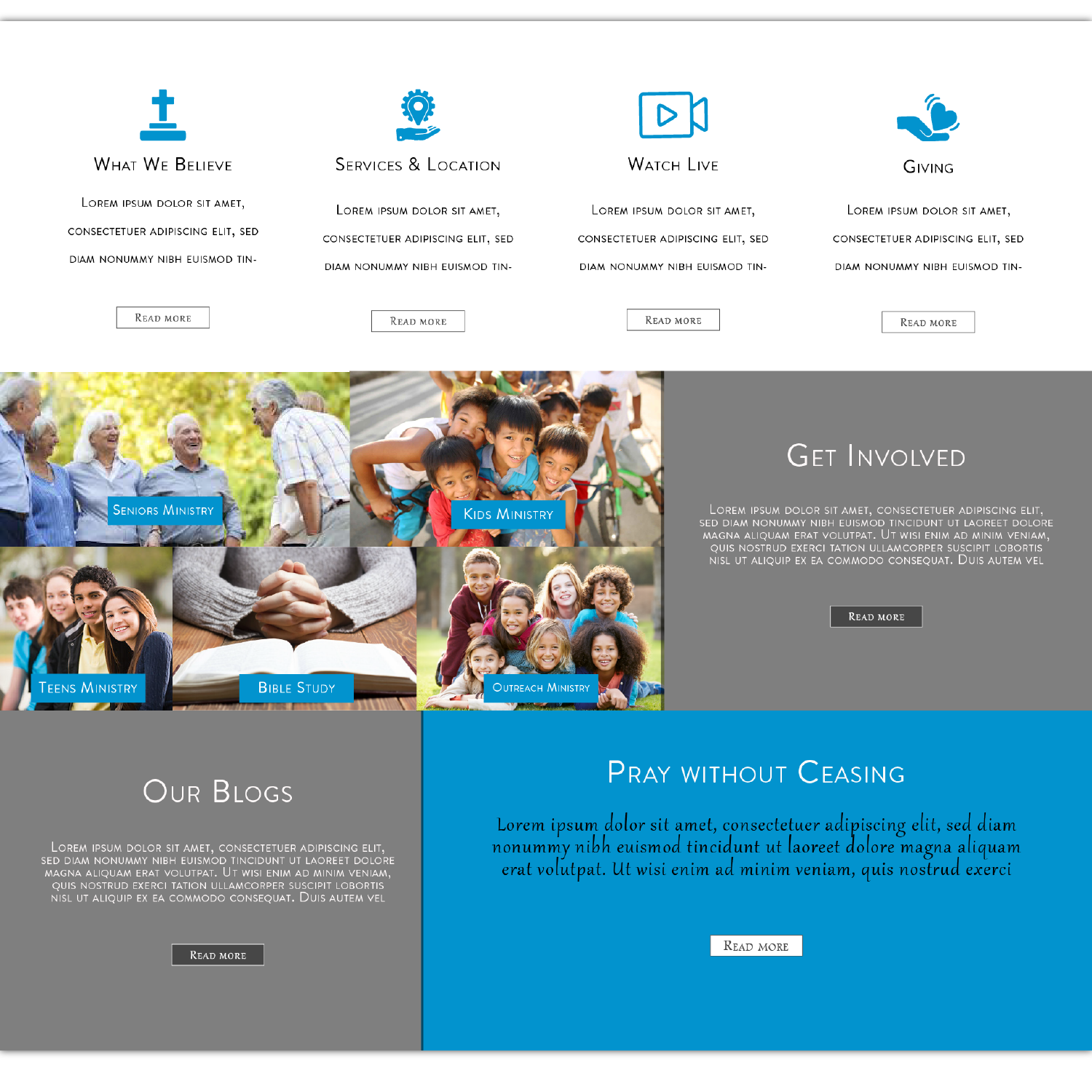 Modern, Professional, Church Web Design for a Company by