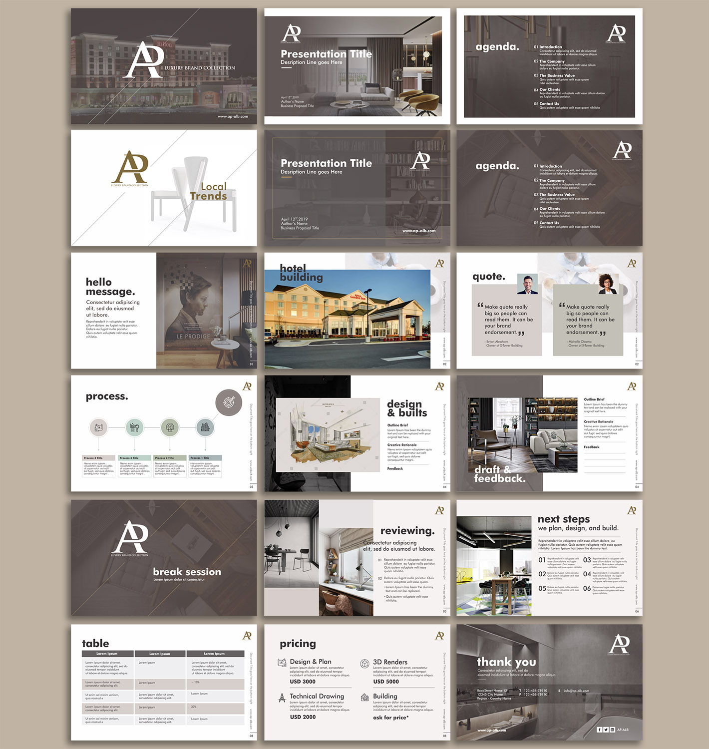 Elegant, Playful PowerPoint Design for a Company by kepitink