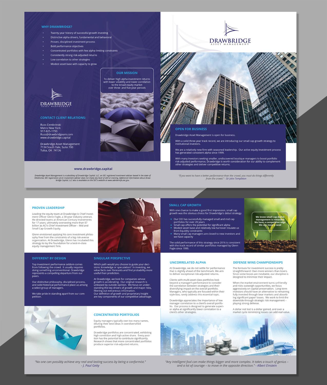 Modern, Professional, Investment Advisory Brochure Design for