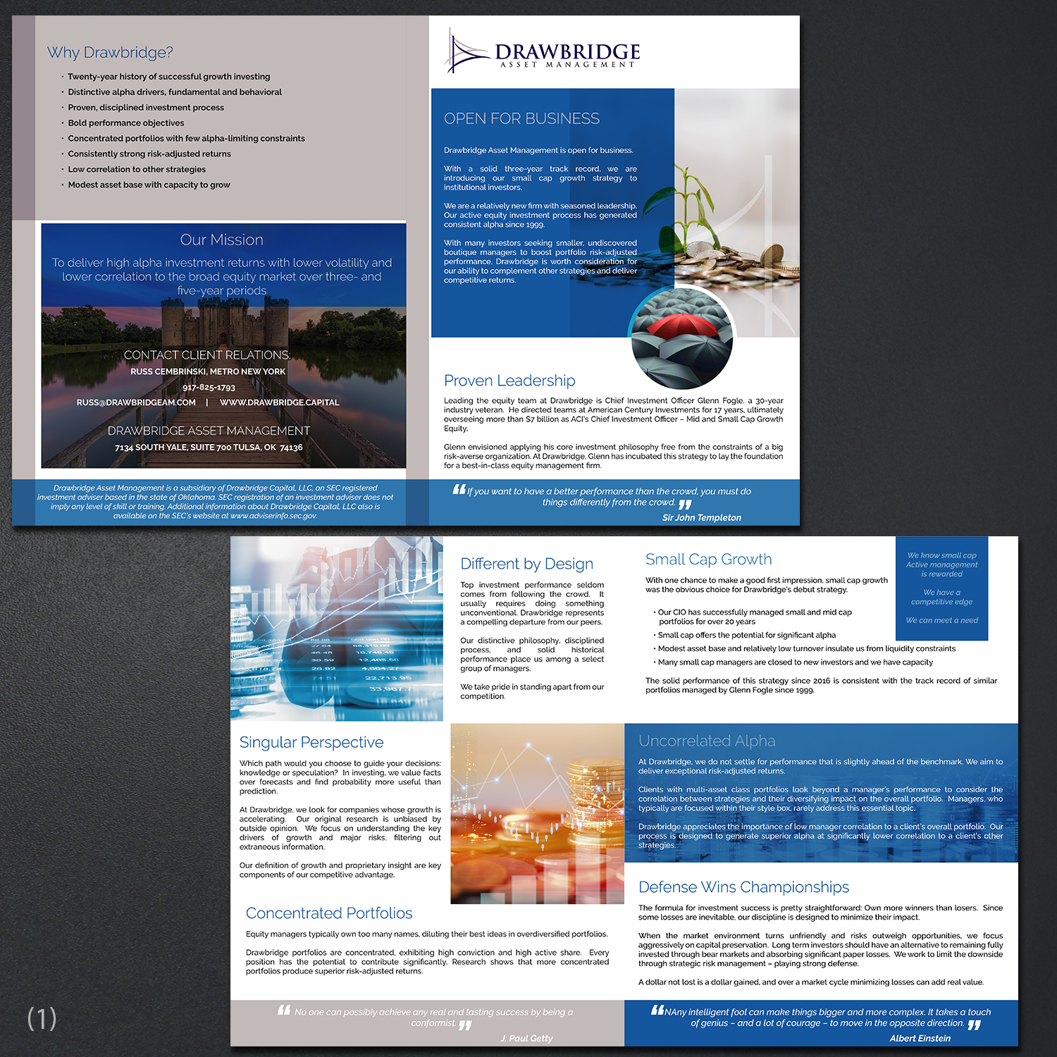 Modern, Professional, Investment Advisory Brochure Design