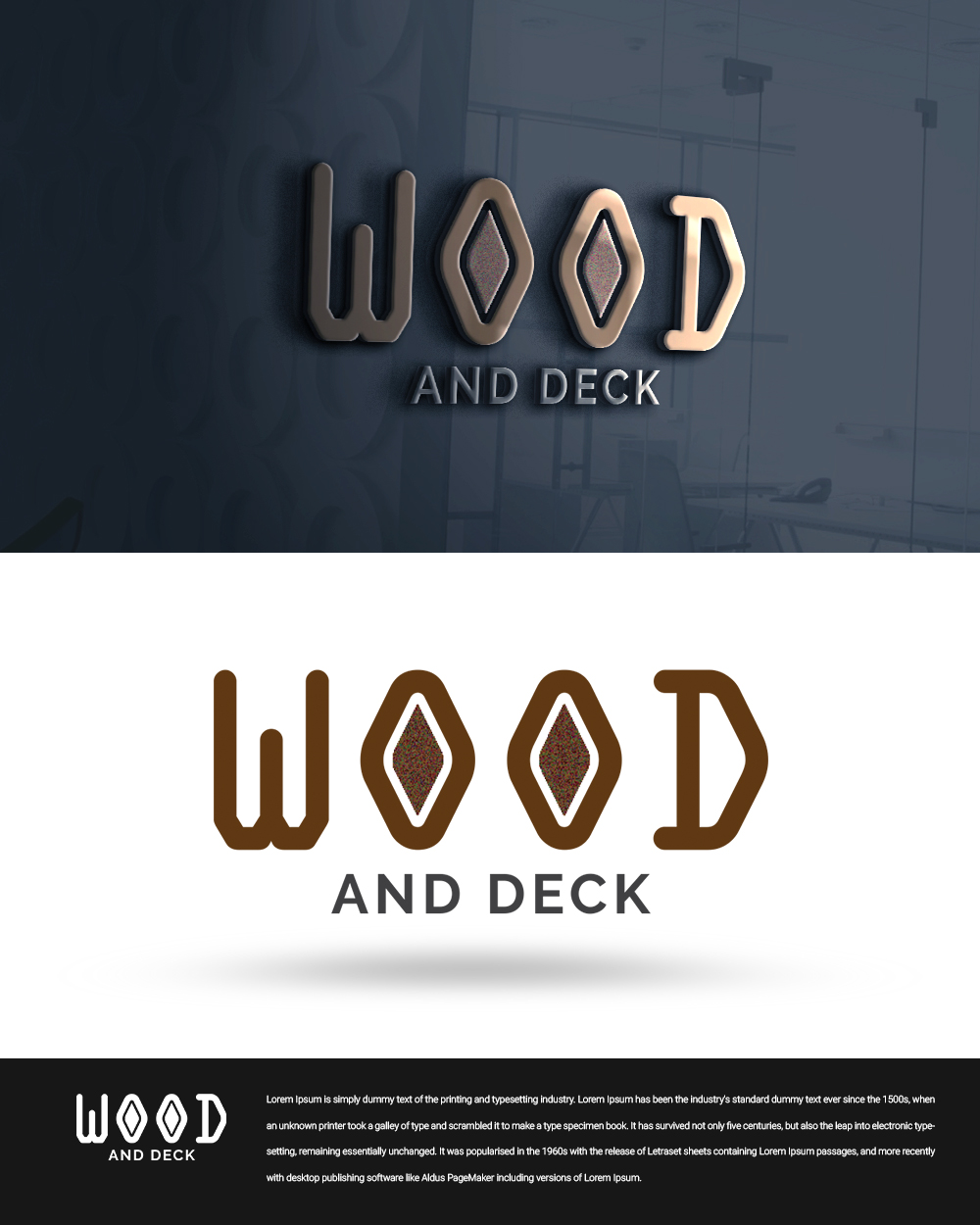 Elegant, Playful Logo Design for Company name :wood and deck by
