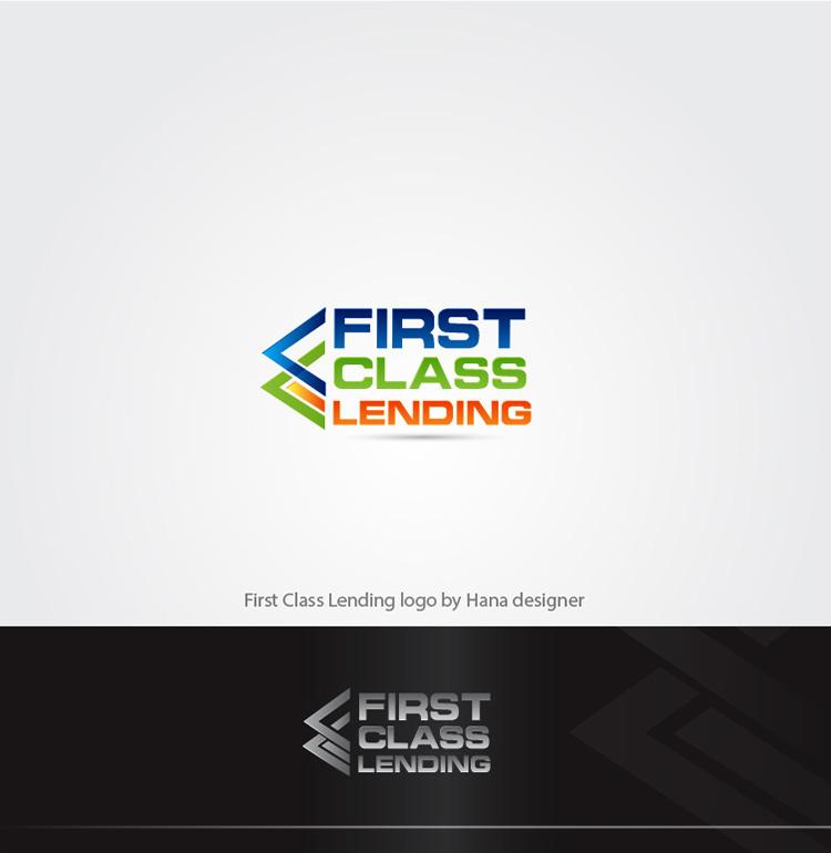Elegant Playful Logo Design For First Class Lending By Hana Design 21476407