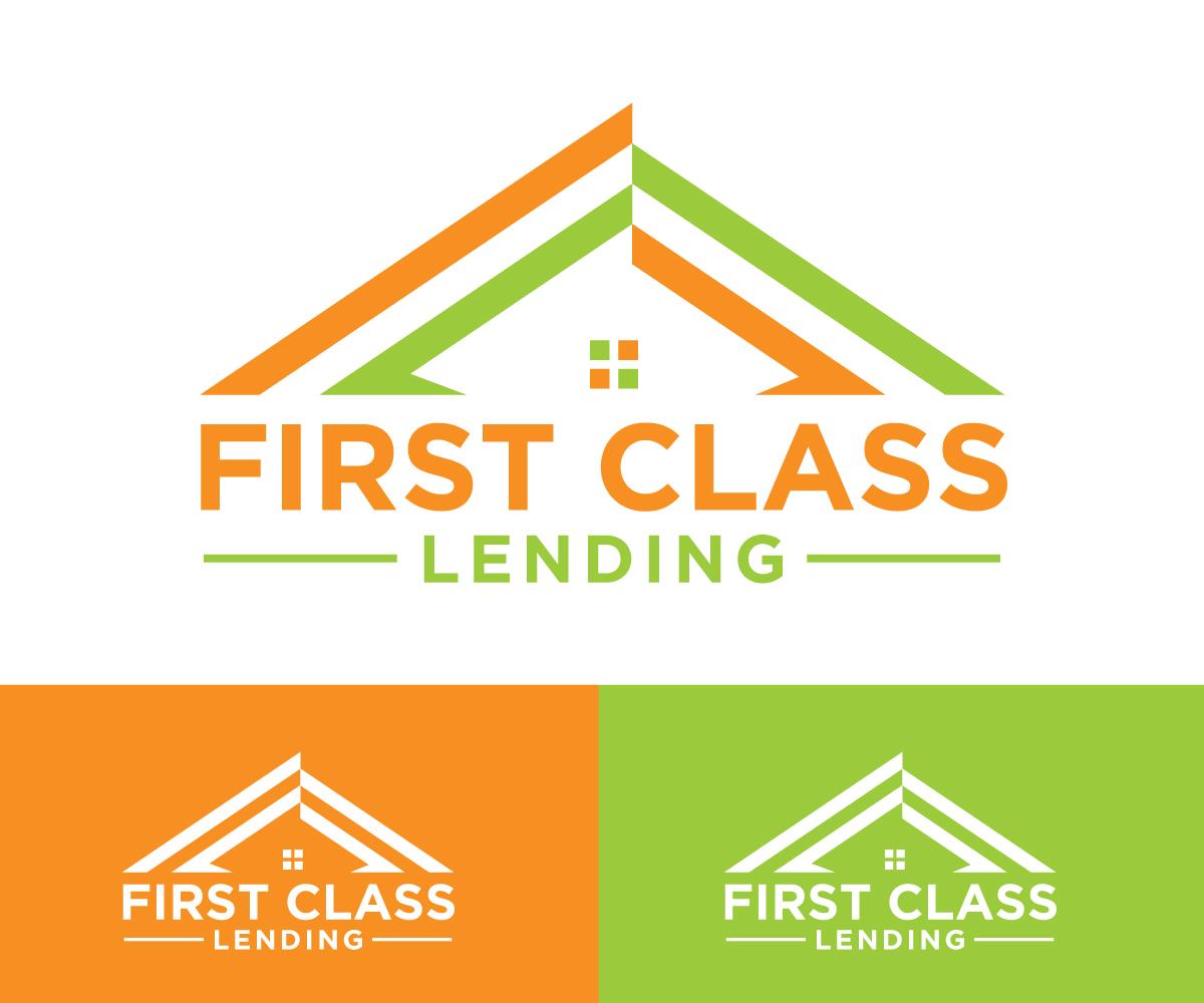 Elegant Playful Logo Design For First Class Lending By Logooffers Design 21474896