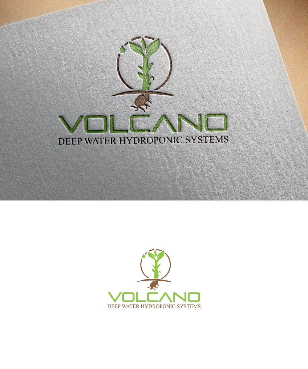 Logo Design for Volcano Deep Water Hydroponic Systems by