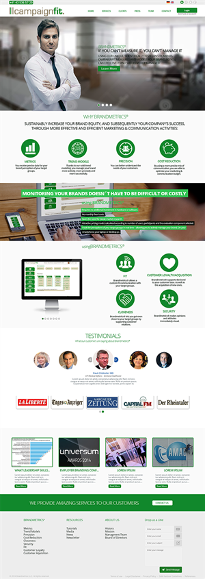 Web Design by PauloF - Web design for small empirical brand consulting...