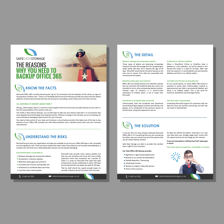 Modern, Upmarket, It Service Flyer Design for Safe Data Storage Ltd