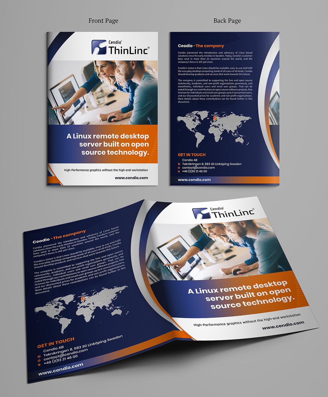 Modern Professional Software Development Brochure Design For Cendio Aktiebolag By Sd Webcreation Design 21597064