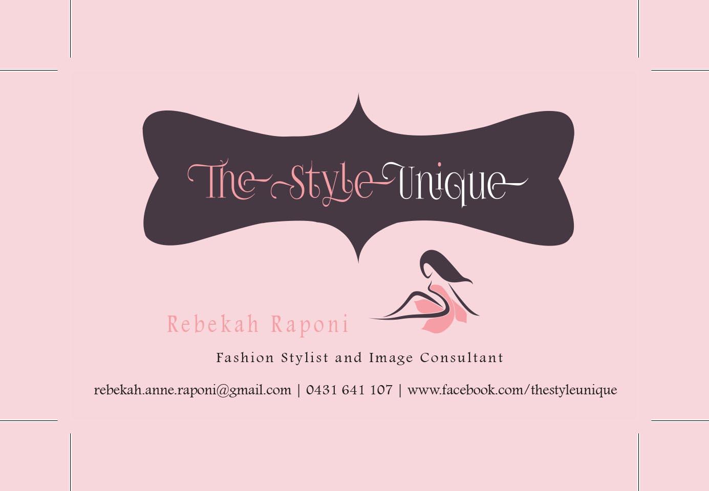 Upmarket modern business card design for rebekah raponi by smr business card design by smr designs for personal stylist business card design design 2962827 magicingreecefo Image collections